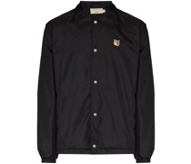 embroidered logo buttoned jacket
