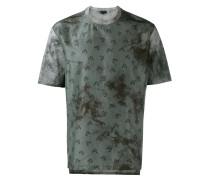 Batik-T-Shirt mit floralem Muster