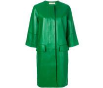 Oversized-Mantel aus Lammleder
