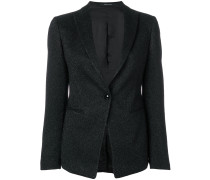 glitter single button blazer