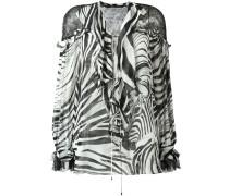 Seidenbluse mit Zebra-Print