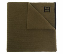 Gerippter Schal mit Logo-Print