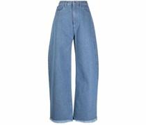 Weite High-Waist-Jeans