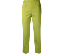 - slub cropped trousers - women
