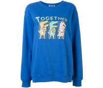 Sweatshirt mit Dino-Print