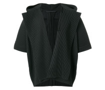 rib knit hooded cardigan