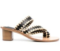Sandalen mit geometrischem Print