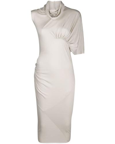 Drapiertes Kleid mit asymmetrischem Design