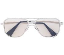 Pilotenbrille mit silbernem Gestell