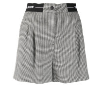 Shorts mit Hahnentrittmuster