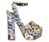 Sandalen mit Blumen-Print
