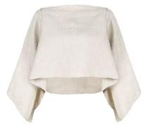 Ausgestellter Cropped-Pullover