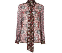 kaleidoscopic print blouse