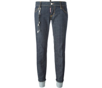 'Sexy Rolled Up Flare' Jeans