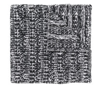 signature stripe knitted scarf