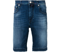 Jeans-Shorts mit Kontrastnaht