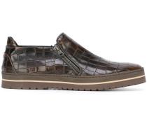 Sneakers in Krokodillederoptik