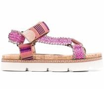 Papeete Sandalen mit geriffelter Sohle