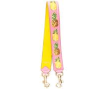 pineapple print bag strap - women - Kalbsleder