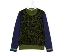 'Teen' Sweatshirt mit abstraktem Print