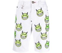 """Shorts mit """"Evil Smile""""-Stickerei"""
