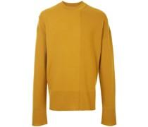 Pullover mit gestreiftem Einsatz
