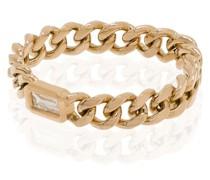 18kt Gelbgoldring im Kettendesign mit Diamant
