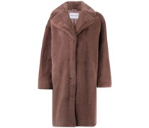 'Camille' Oversized-Mantel mit Faux Fur