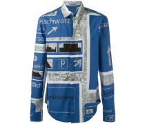 """Klassisches Hemd mit """"Nowhere""""-Print"""