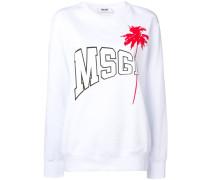 Sweatshirt mit Palmenmotiv