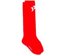 logo star pattern socks