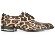 Schnurlose Oxford-Schuhe mit Leoparden-Print