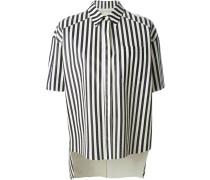 Perforiertes Lederhemd mit Streifen