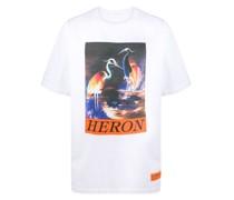 T-Shirt mit Schwan-Print