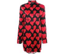 Seidenhemd mit Herz-Print