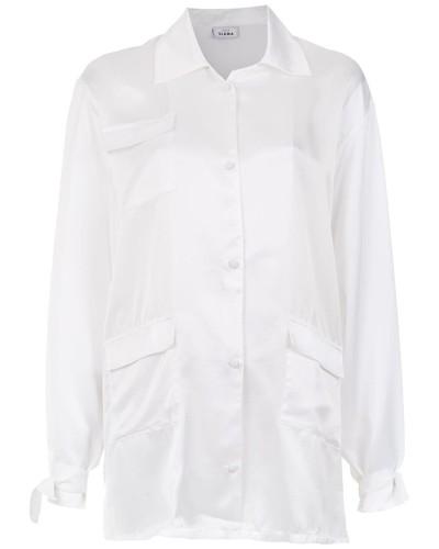 Oversized-Hemd aus Seide
