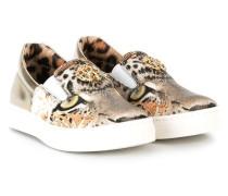 Slip-On-Sneakers mit Leoparden-Print