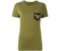 T-Shirt mit Perlenstickerei - women - Baumwolle