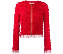 ruffle embellished jacket