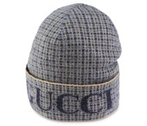 Mütze mit Jacquard-Karomuster