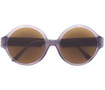 Oversized-Sonnenbrille mit rundem Gestell