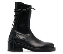 rear lace-up ankle boots