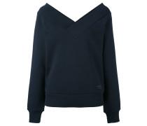 Sweatshirt mit weitem V-Ausschnitt - women