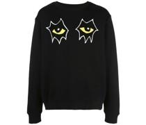 Sweatshirt mit Augen-Patches