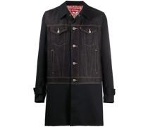 Mantel mit Jeanseinsatz