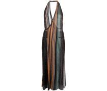 Neckholder-Kleid in Metallic-Optik