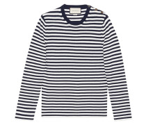 - Striped cotton crew neck sweater - men