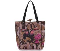 Handtasche mit Stickerei - women - Raffiabast