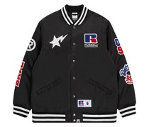 A BATHING APE® x Russell Collegejacke