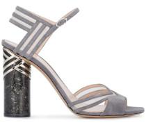 Grey Suede Zaha 105 sandals